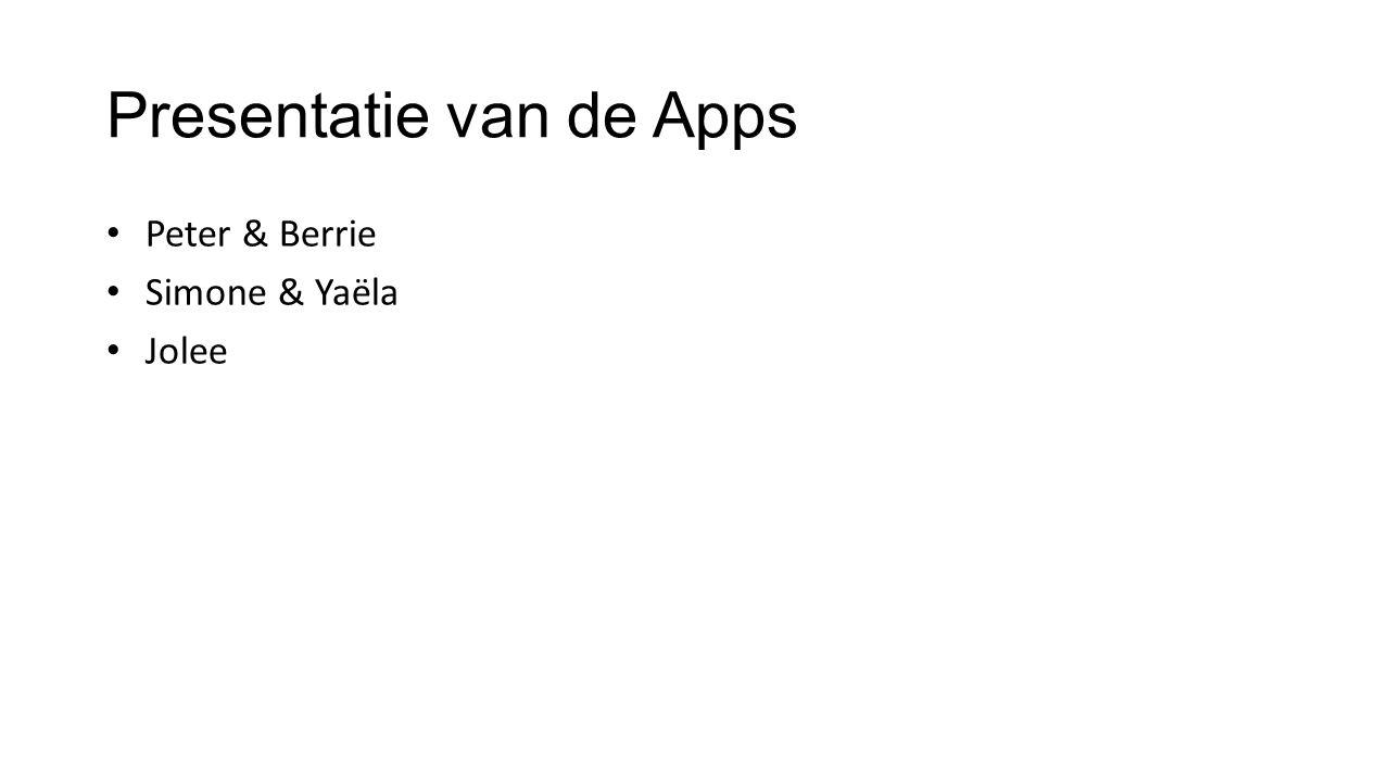 Presentatie van de Apps