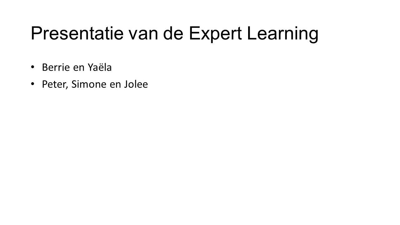 Presentatie van de Expert Learning