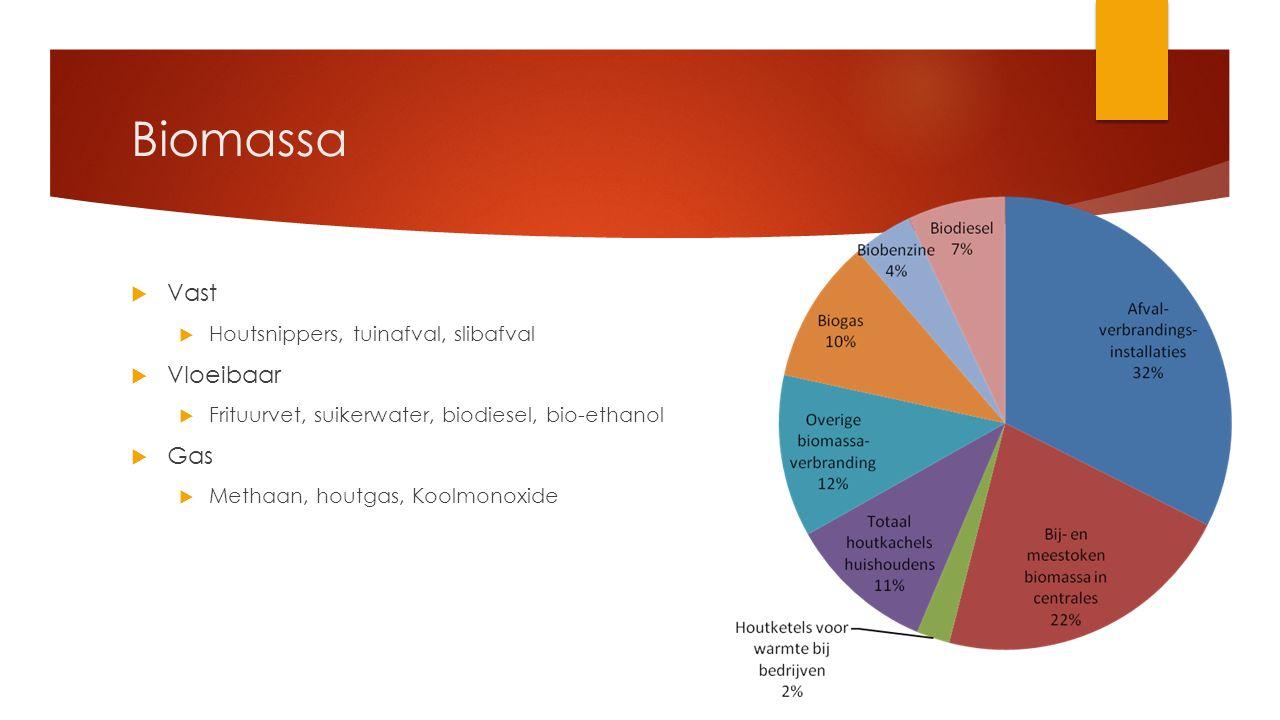 Biomassa Vast Vloeibaar Gas Houtsnippers, tuinafval, slibafval