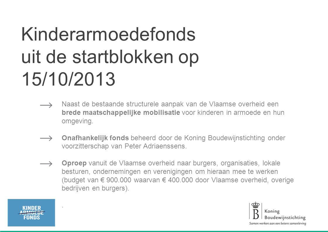 Kinderarmoedefonds uit de startblokken op 15/10/2013