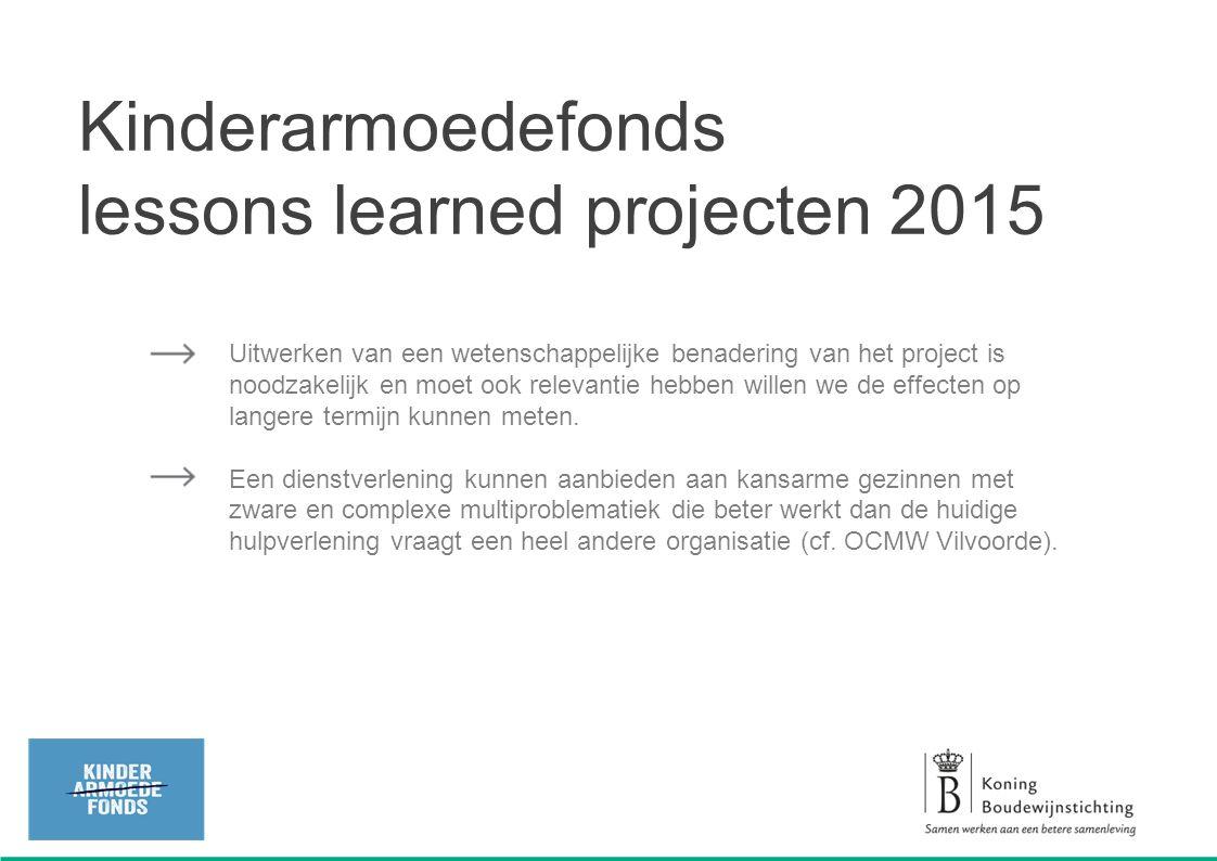 lessons learned projecten 2015