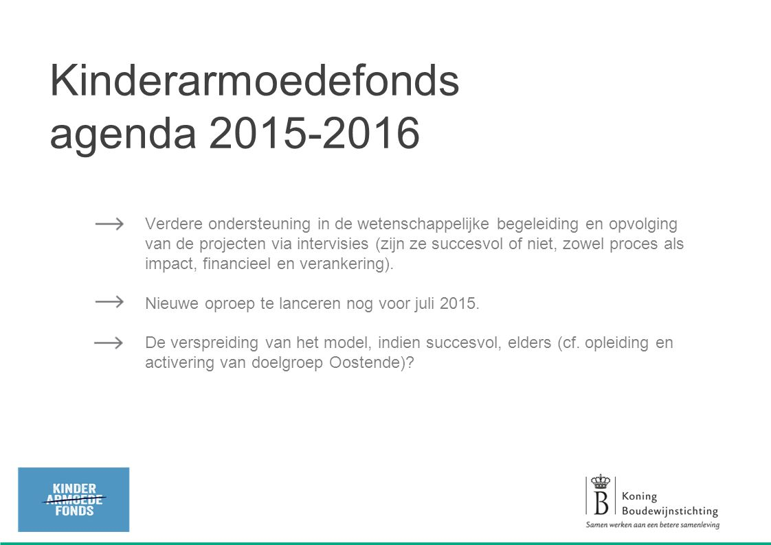Kinderarmoedefonds agenda 2015-2016