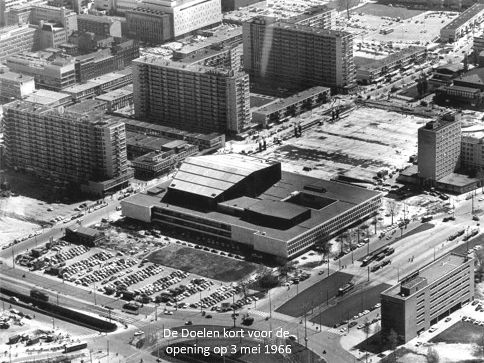 De Doelen kort voor de opening op 3 mei 1966