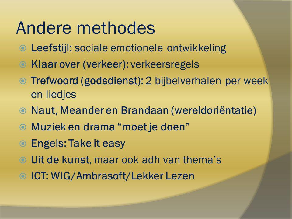 Andere methodes Leefstijl: sociale emotionele ontwikkeling