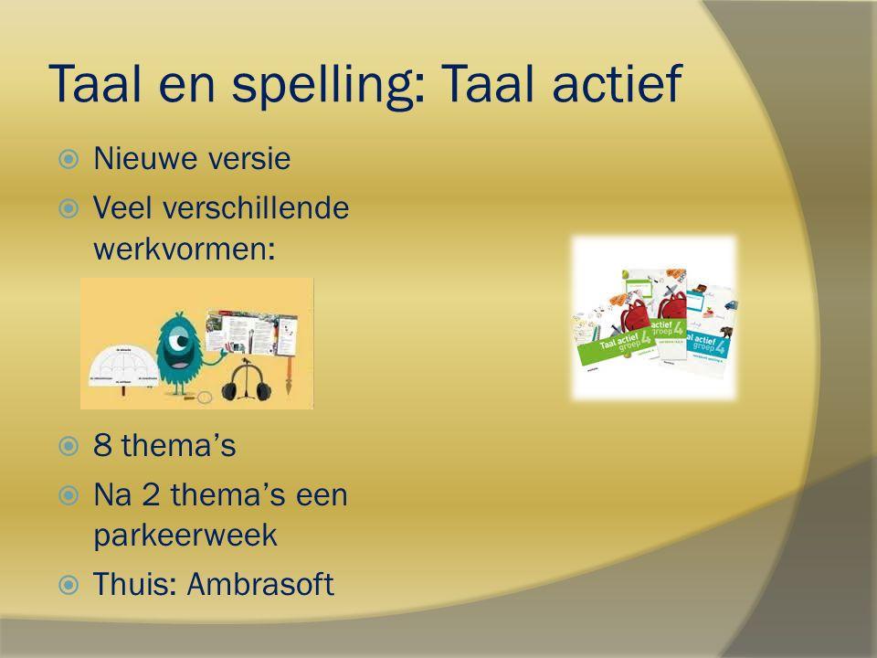 Taal en spelling: Taal actief