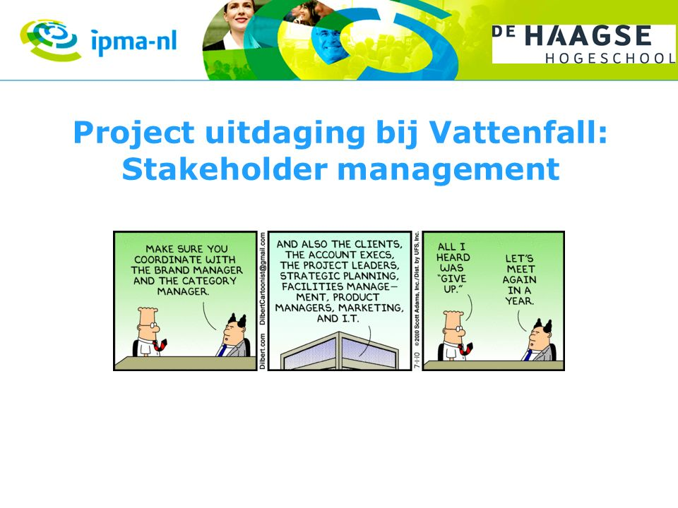Project uitdaging bij Vattenfall: Stakeholder management