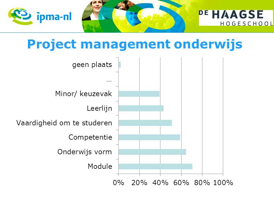 Project management onderwijs