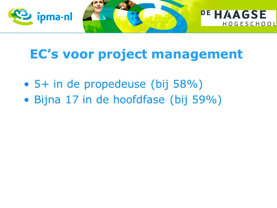 EC's voor project management