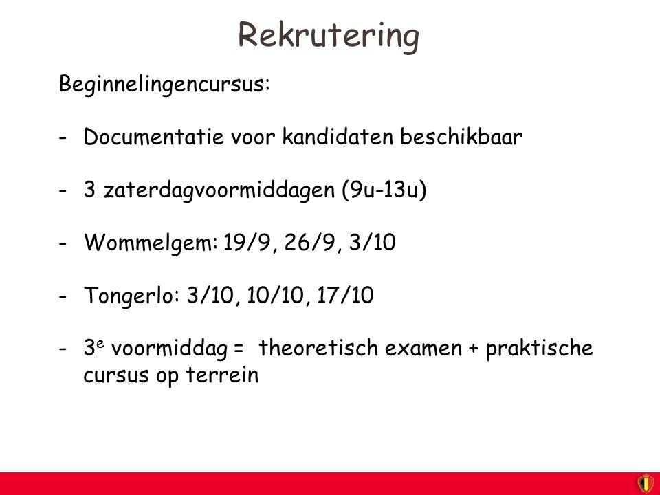 Rekrutering Beginnelingencursus: