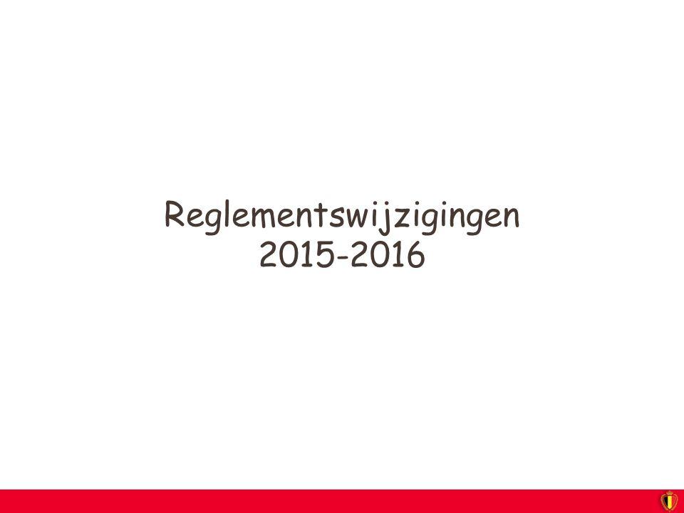 Reglementswijzigingen 2015-2016