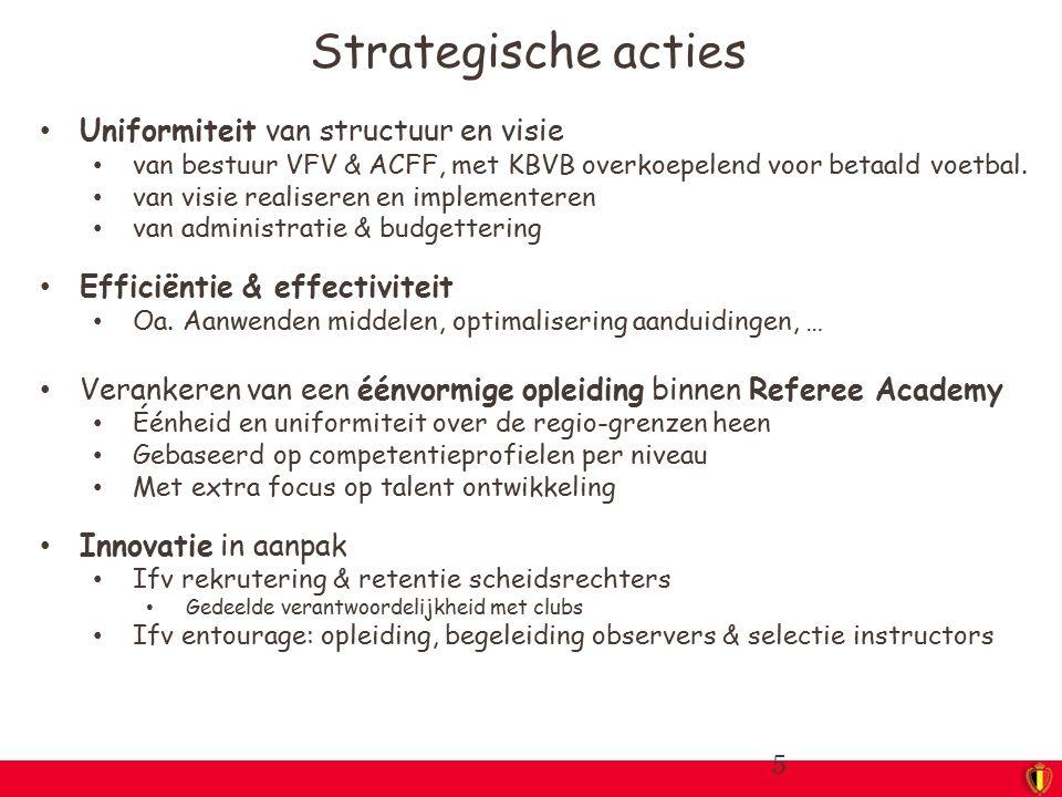 Strategische acties Uniformiteit van structuur en visie