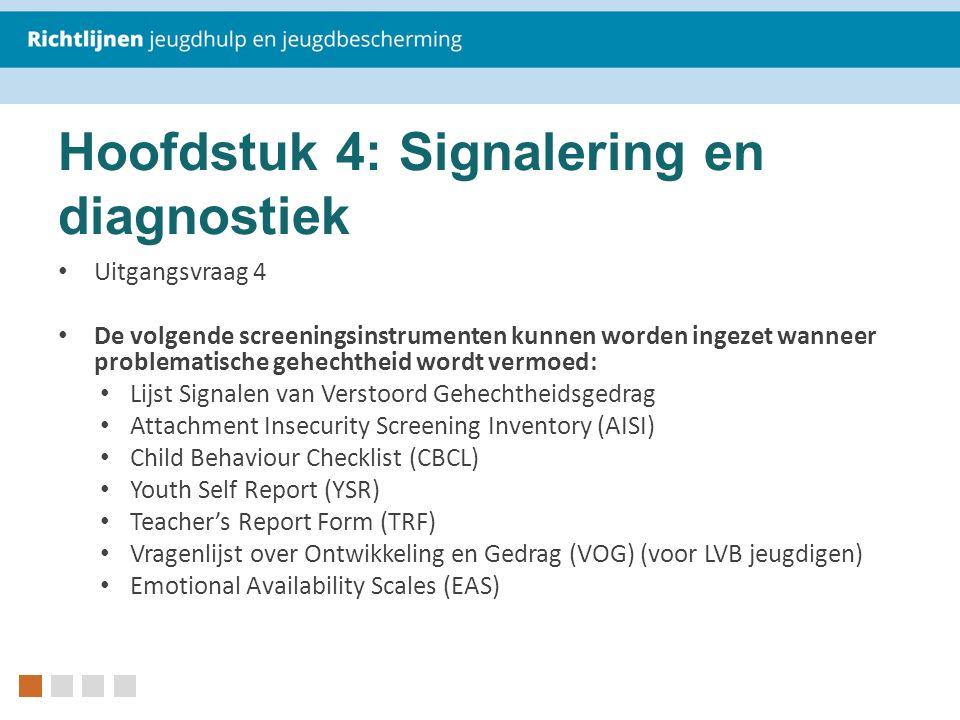 Hoofdstuk 4: Signalering en diagnostiek