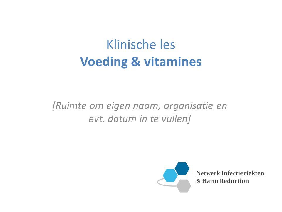 Klinische les Voeding & vitamines