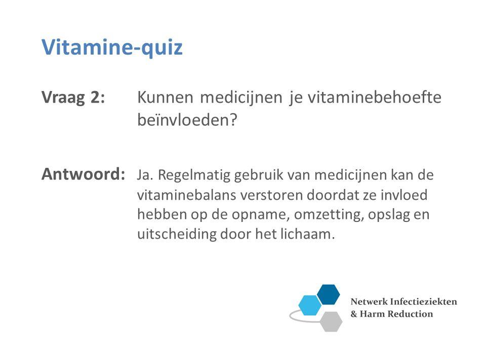 Vitamine-quiz Vraag 2: Kunnen medicijnen je vitaminebehoefte beïnvloeden