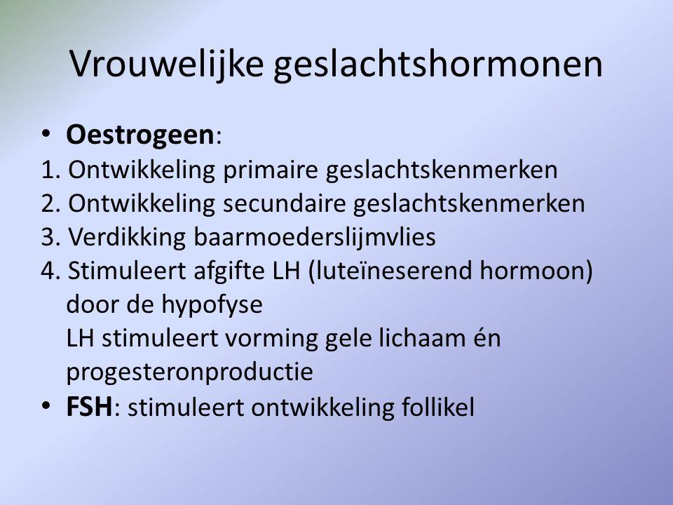Vrouwelijke geslachtshormonen