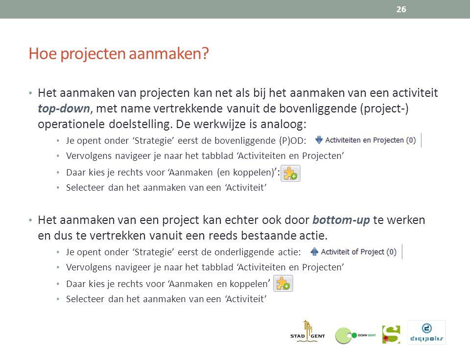 Hoe projecten aanmaken