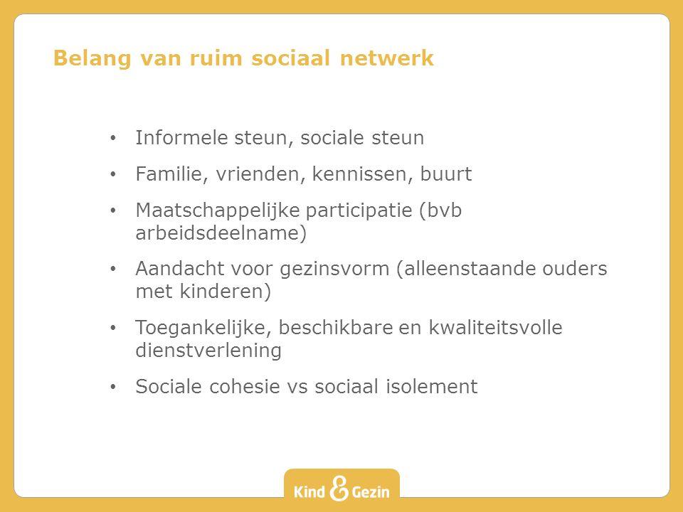 Belang van ruim sociaal netwerk