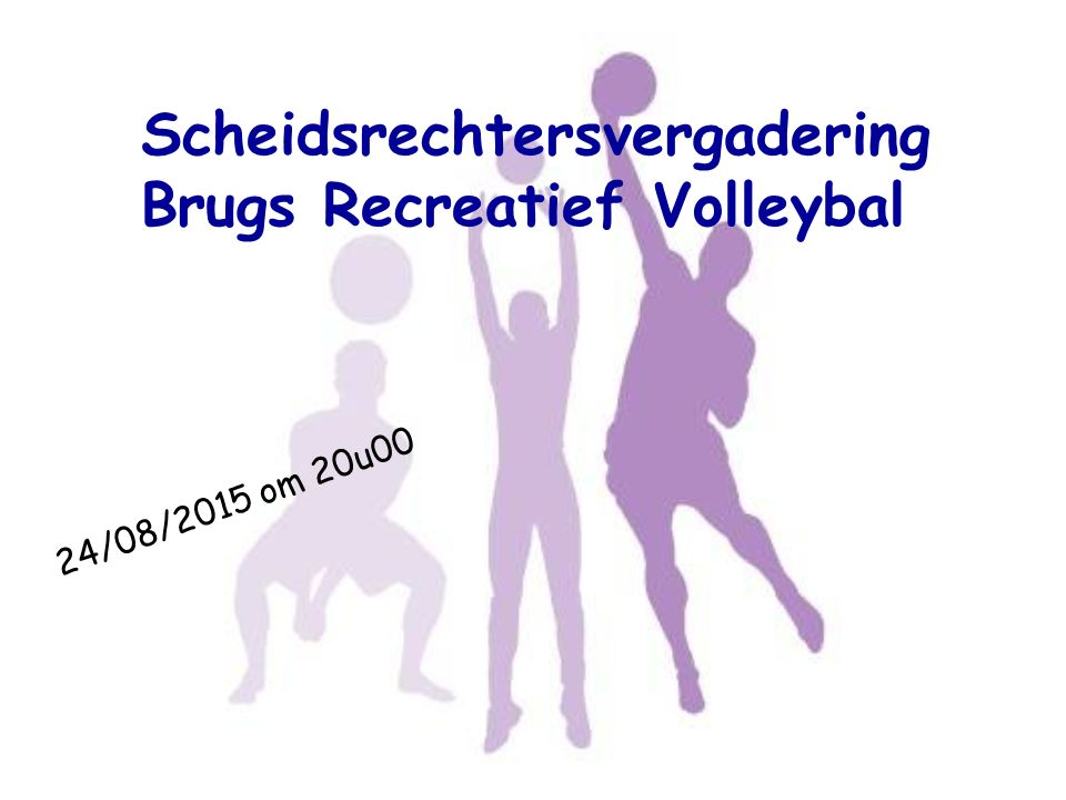 Scheidsrechtersvergadering Brugs Recreatief Volleybal