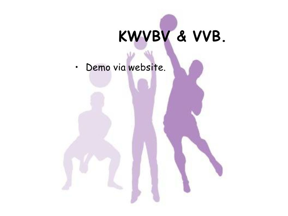 KWVBV & VVB. Demo via website. Koen tot einde