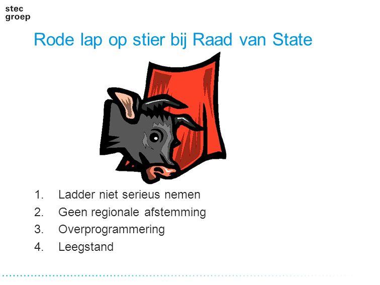 Rode lap op stier bij Raad van State