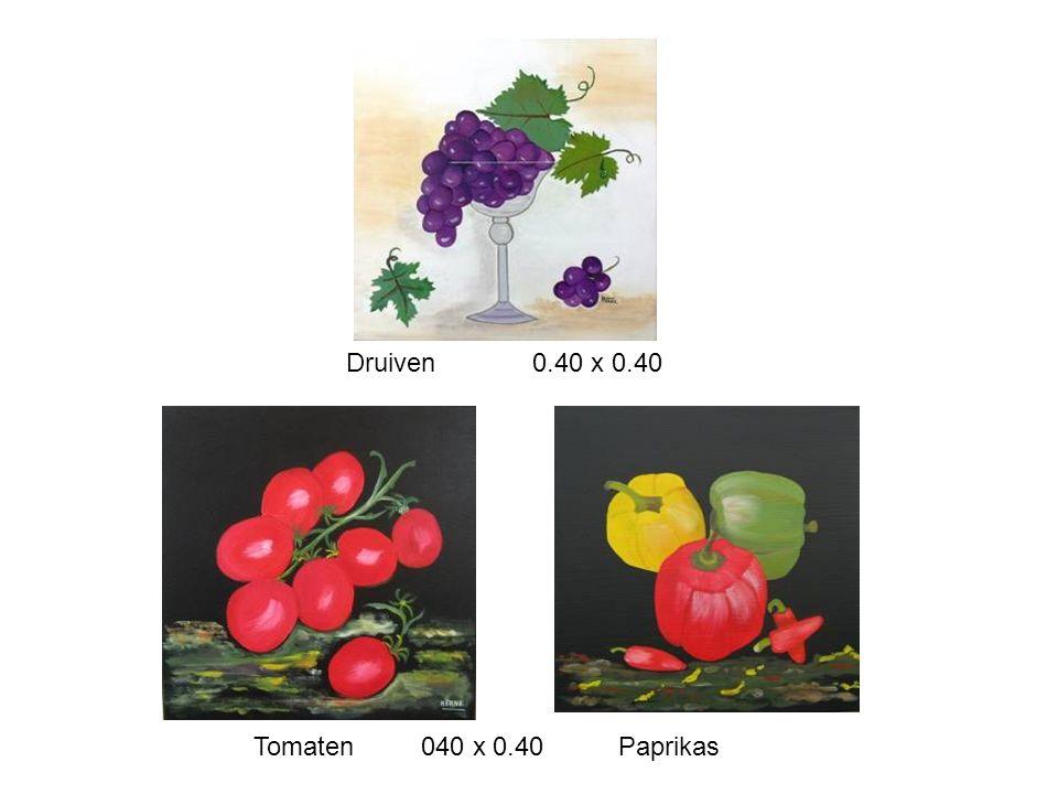 Druiven 0.40 x 0.40 Tomaten 040 x 0.40 Paprikas