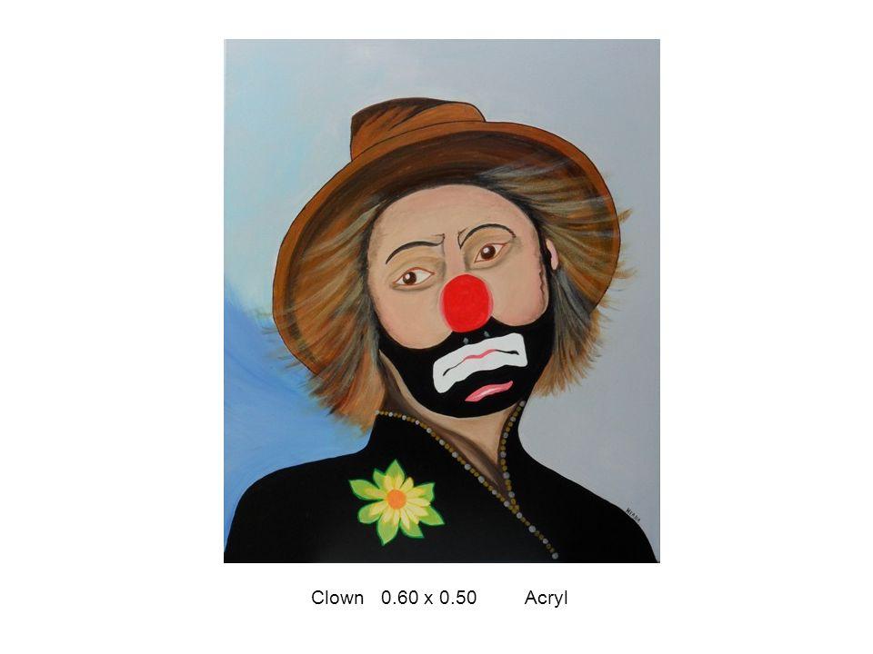 Clown 0.60 x 0.50 Acryl