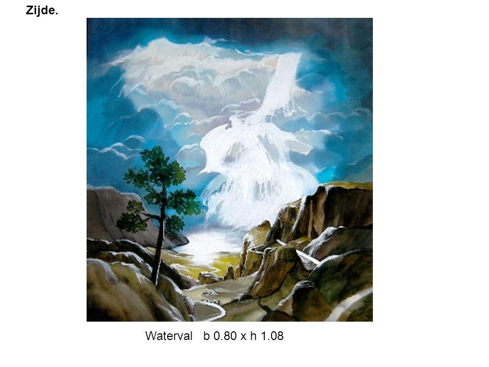 Zijde. Waterval b 0.80 x h 1.08