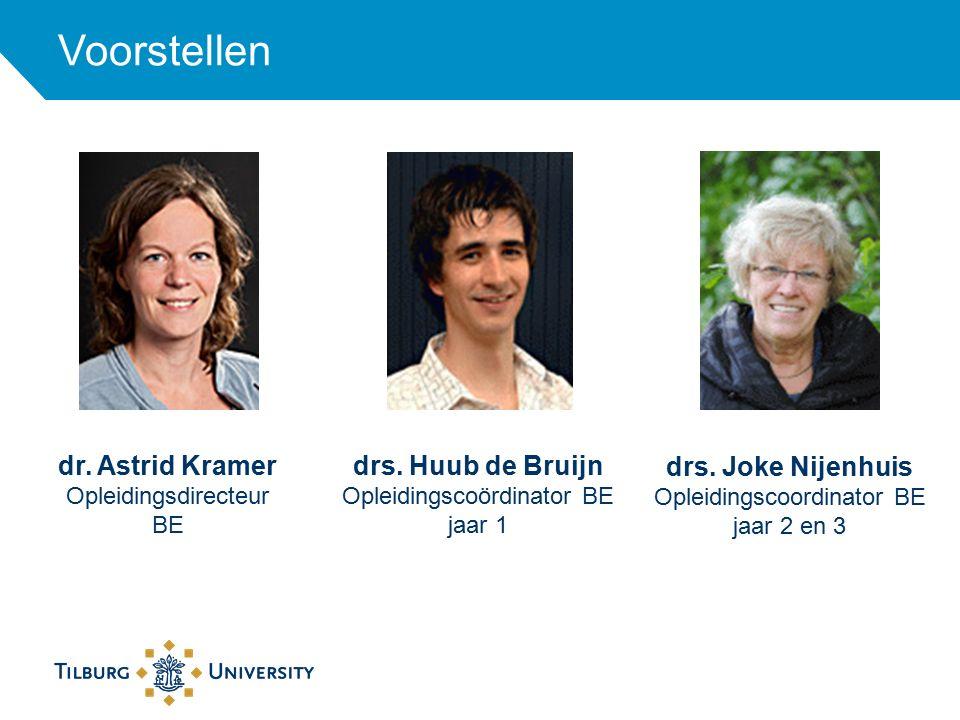 Voorstellen dr. Astrid Kramer. Opleidingsdirecteur BE. drs. Huub de Bruijn. Opleidingscoördinator BE.