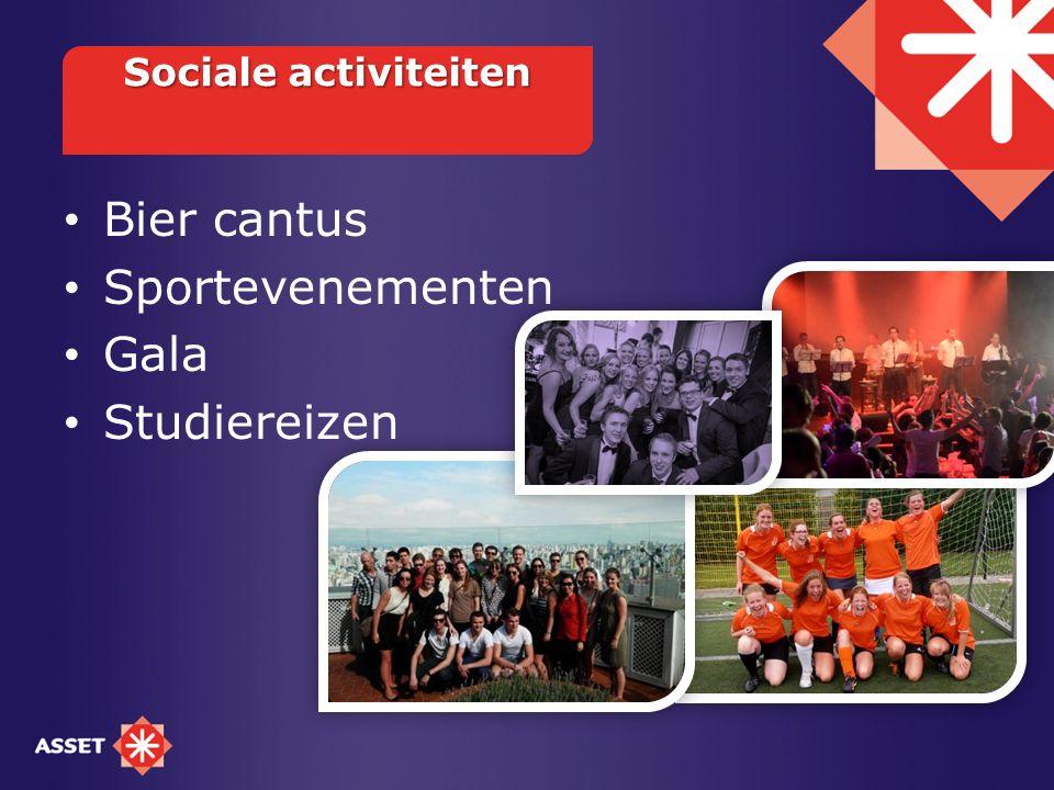 Sociale activiteiten Bier cantus Sportevenementen Gala Studiereizen