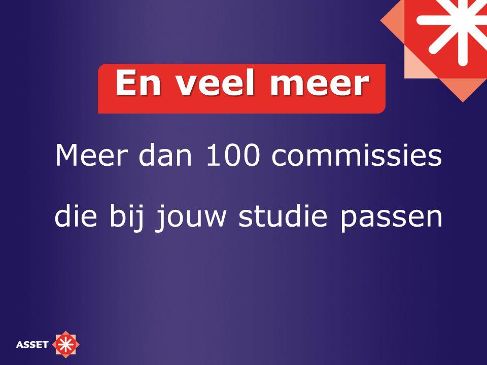 Meer dan 100 commissies die bij jouw studie passen