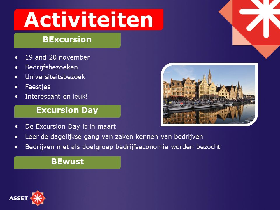 Activiteiten BExcursion Excursion Day BEwust 19 and 20 november