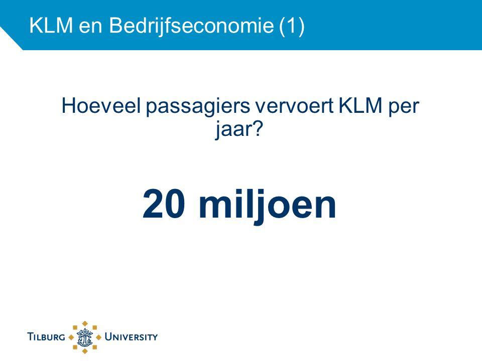 KLM en Bedrijfseconomie (1)