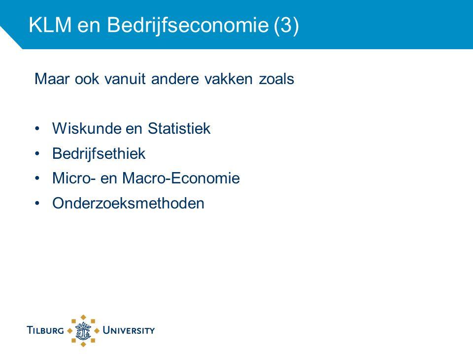 KLM en Bedrijfseconomie (3)