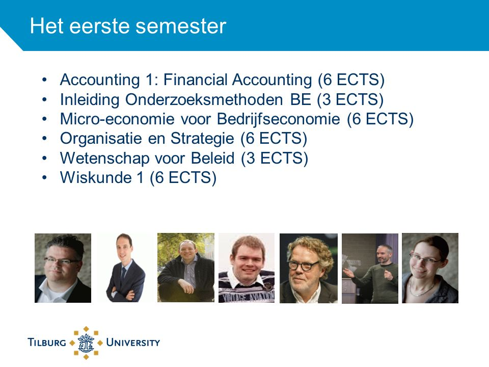 Het eerste semester Accounting 1: Financial Accounting (6 ECTS)