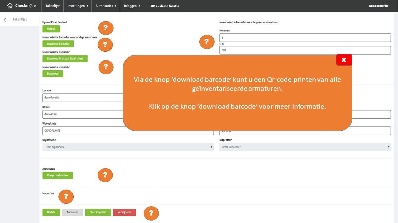Klik op de knop 'download barcode' voor meer informatie.