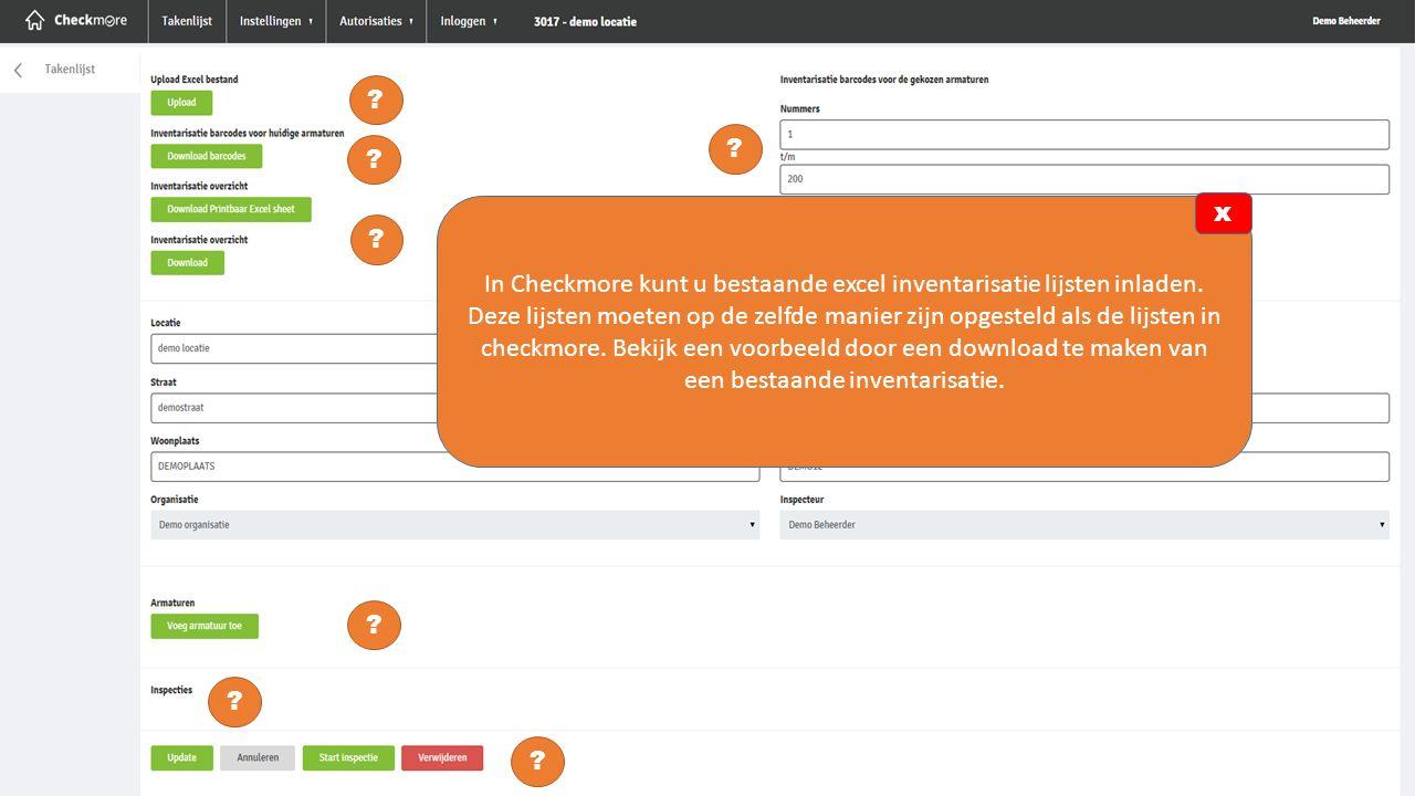 In Checkmore kunt u bestaande excel inventarisatie lijsten inladen.