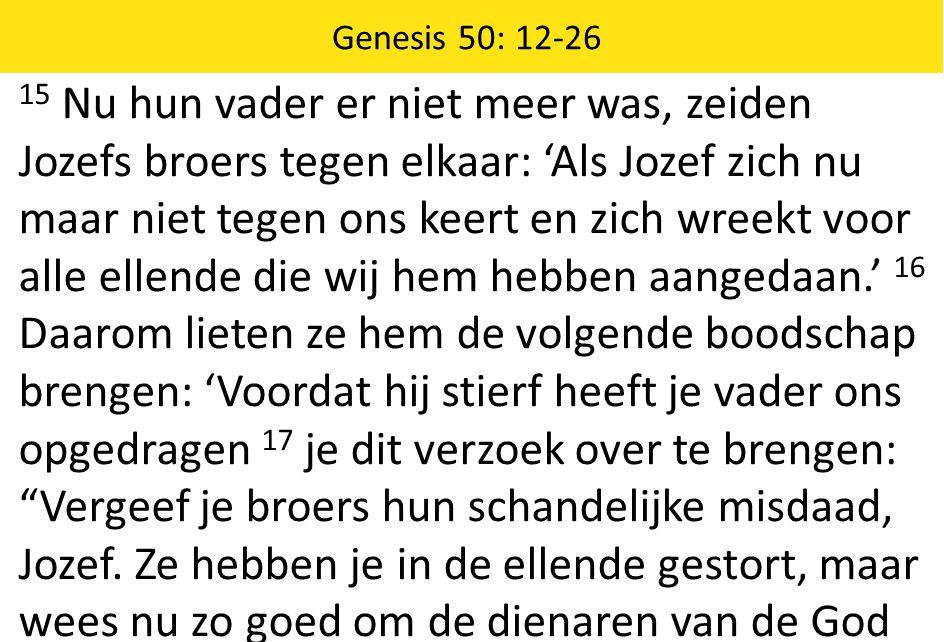 Genesis 50: 12-26