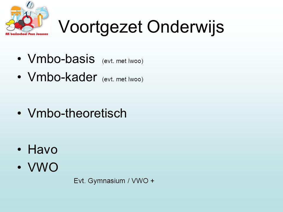 Voortgezet Onderwijs Vmbo-basis (evt. met lwoo)