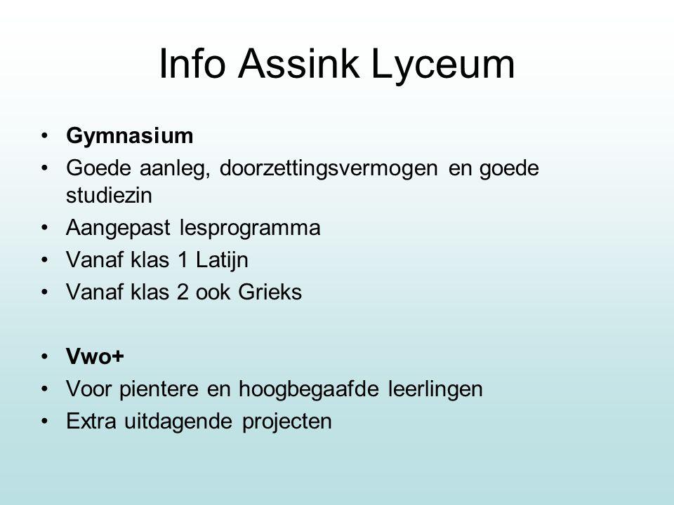 Info Assink Lyceum Gymnasium