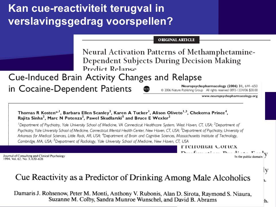 Kan cue-reactiviteit terugval in verslavingsgedrag voorspellen