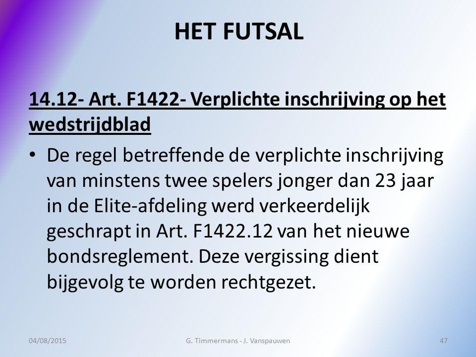G. Timmermans - J. Vanspauwen