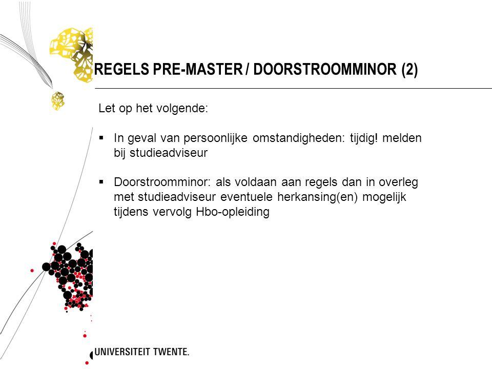 REGELS PRE-MASTER / DOORSTROOMMINOR (2)