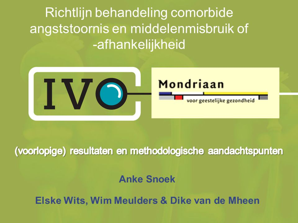 Anke Snoek Elske Wits, Wim Meulders & Dike van de Mheen