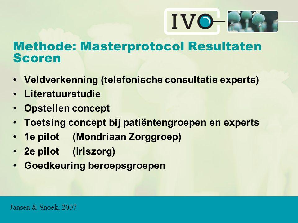 Methode: Masterprotocol Resultaten Scoren