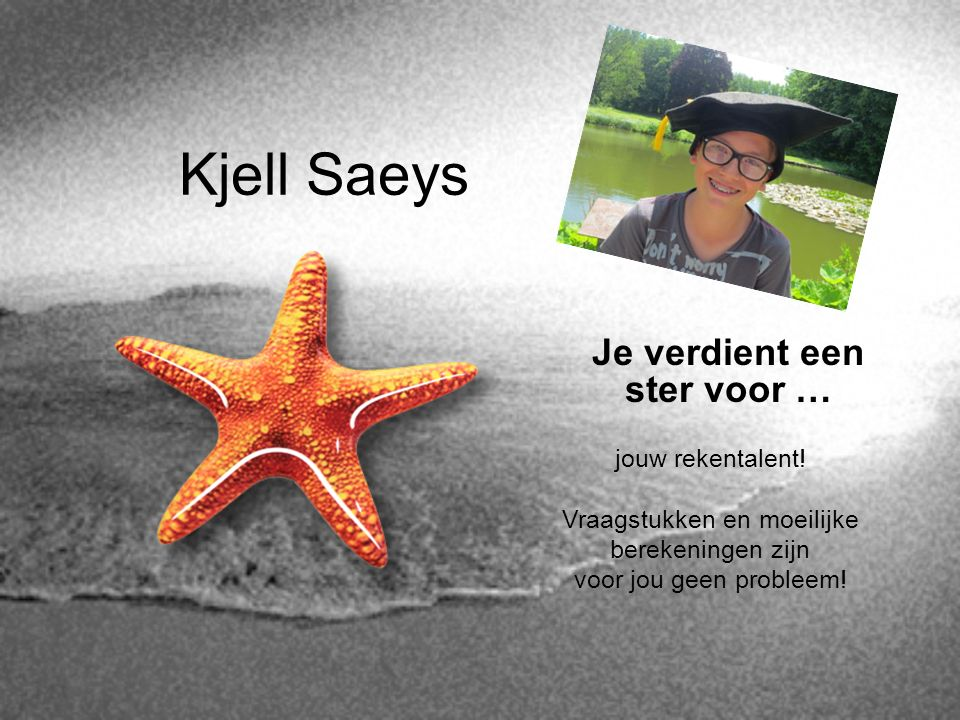 Kjell Saeys Je verdient een ster voor … jouw rekentalent!