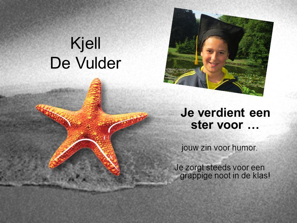 Kjell De Vulder Je verdient een ster voor … jouw zin voor humor.