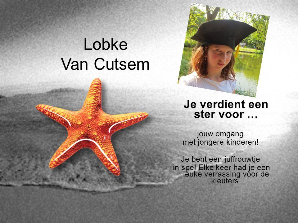 Lobke Van Cutsem Je verdient een ster voor … jouw omgang