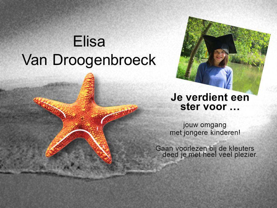 Elisa Van Droogenbroeck