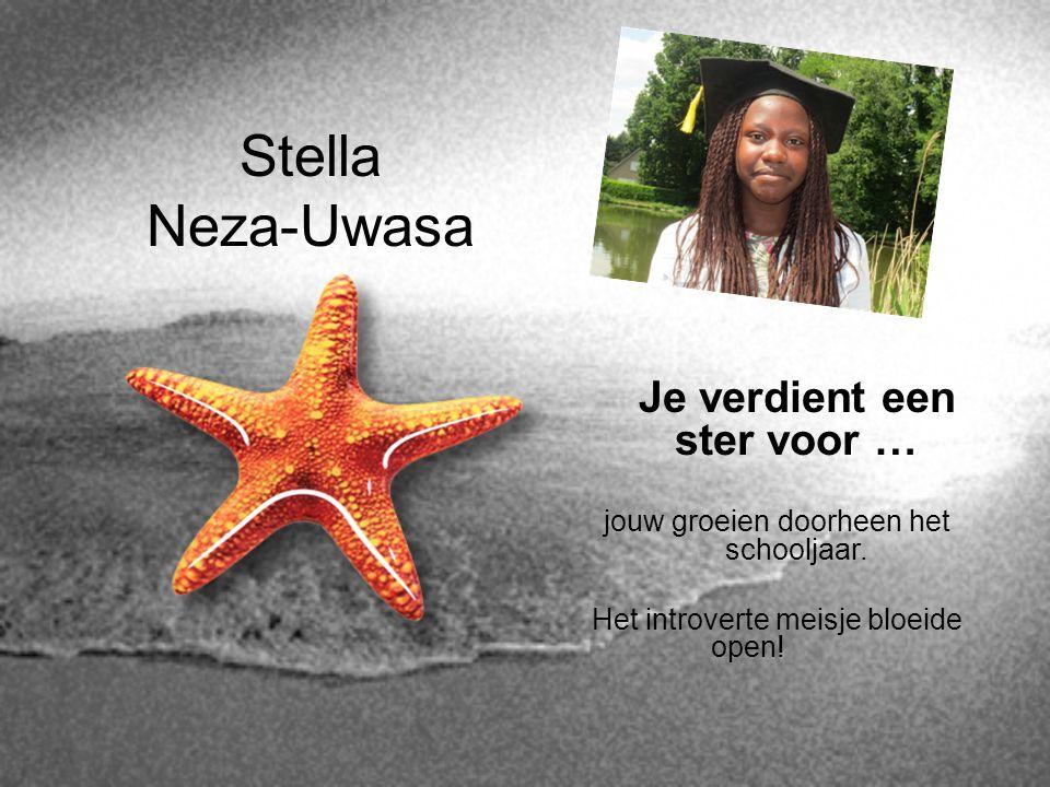Stella Neza-Uwasa Je verdient een ster voor …