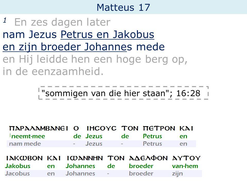 nam Jezus Petrus en Jakobus en zijn broeder Johannes mede